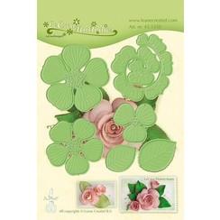 45.5350 - Lea'bilitie Multi die flower 016 Rose 3D  snij en embossing mal