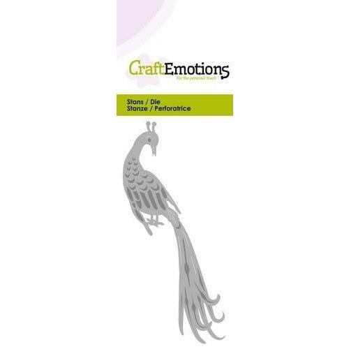 CraftEmotions 115633/0232 - CraftEmotions Die - pauw 1 Card 5x10cm