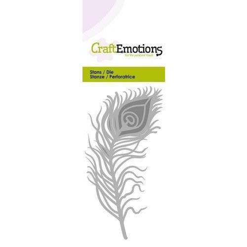CraftEmotions 115633/0234 - CraftEmotions Die - pauwenveer Card 5x10cm
