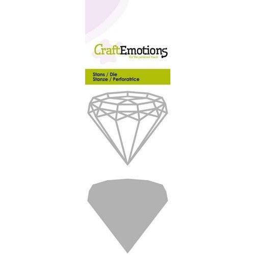 CraftEmotions 115633/0236 - CraftEmotions Die - draadvorm diamand Card 5x10cm