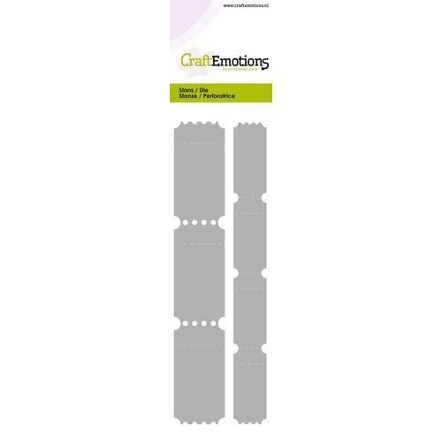 CraftEmotions 115633/0708 - CraftEmotions Die - Cutting border - 2 ticket strips Card 5,0x21,5cm
