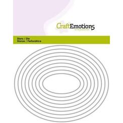 115633/0814 - CraftEmotions Die - randen ovaal Card 11x14cm