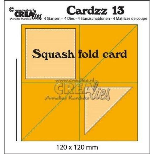 Crealies CLCZ13 - Crealies Cardzz no 13 squash fold card 3 120x120mm