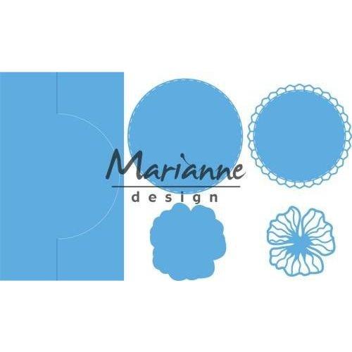 Marianne Design LR0570 - Marianne Design Creatable Anja's vertical folding die (round)