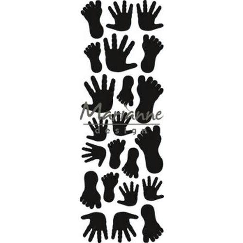 Marianne Design CR1457 - Marianne Design Craftable Punch die Hands & feet