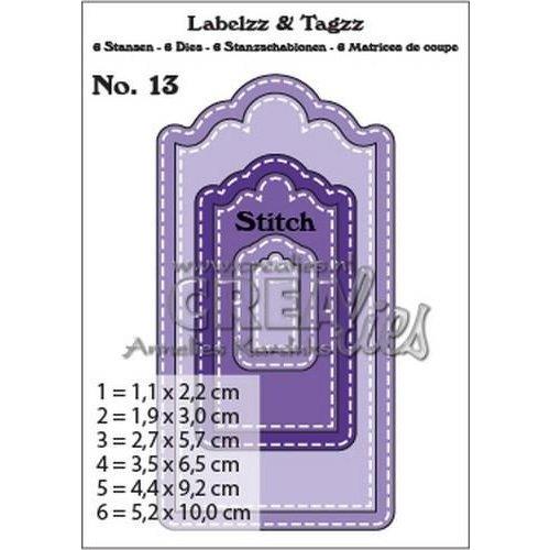 Crealies CLLT13 - Crealies Labelzz & Tagzz no. 13 3 / 5,2x10,0cm