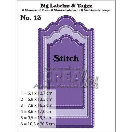 Crealies CLBigLT13 - Crealies Big Labelzz & Tagzz no. 13 LT13 10,3x20,5cm