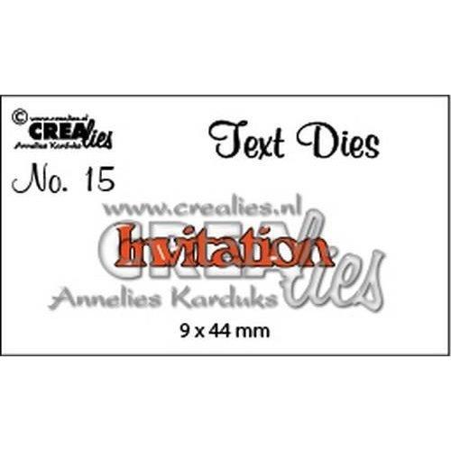 Crealies CLTD15 - Crealies tekststans (Eng) nr. 15 Invitation 5 9x44mm