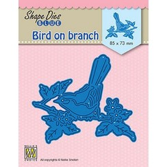 SDB073 - Shape Dies Blue Bird on branch