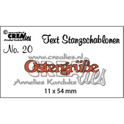Crealies CLTSS20 - Crealies Tekststans (DE) nr 20 Ostergrüße 20 / 11x54 mm