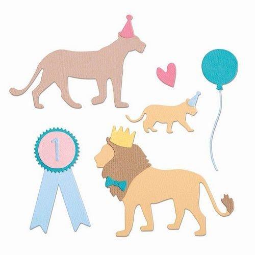 Sizzix 663364 - Sizzix Thinlits Die Set - 11PK Party Cats 4 Sophie Guilar