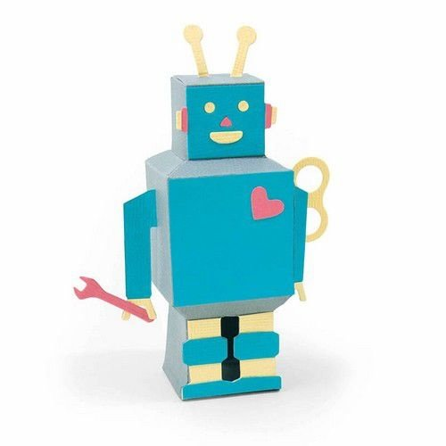 Sizzix 663375 - Sizzix Thinlits Die Set - 8PK 3-D Robot 5 Georgie Evans