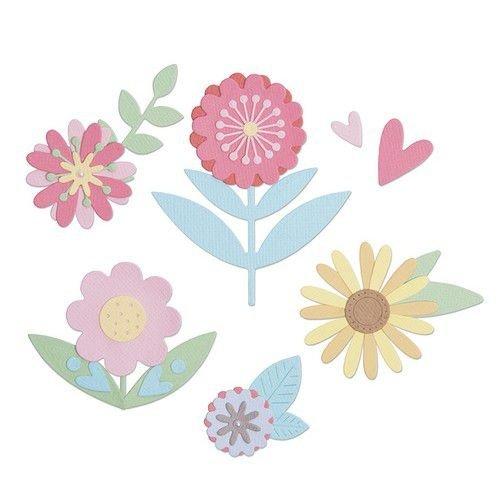 Sizzix 663459 - Sizzix Thinlits Die Set - 15PK Flower Set 9 Lisa Jones
