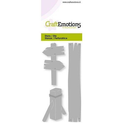 CraftEmotions 115633/0241 - CraftEmotions Die - wegwijzer, meerpaal Card 5x10cm