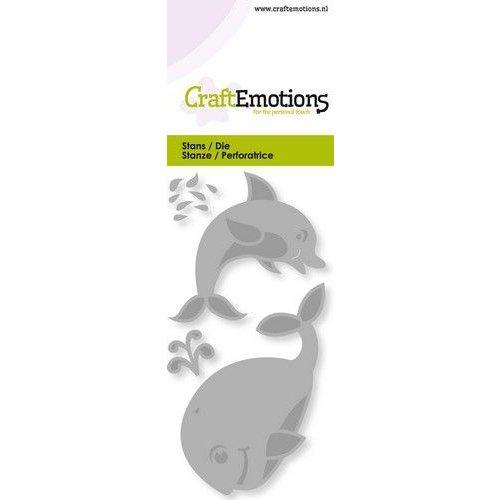 CraftEmotions 115633/0249 - CraftEmotions Die - dolfijn, walvis Card 5x10cm