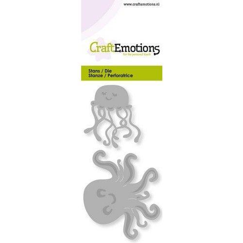 CraftEmotions 115633/0250 - CraftEmotions Die - kwalletjes Card 5x10cm