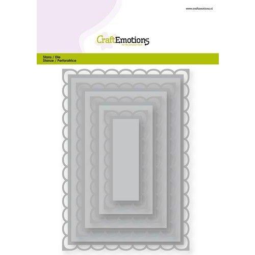 CraftEmotions 115633/0923 - CraftEmotions Big Nesting Die - rechthoeken scalop XL open Card 150x160 6,8-15,0cm