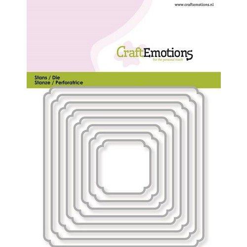 CraftEmotions 115633/0816 - CraftEmotions Die - randen vierkant double rounder/billenhoek Card 11x9cm - 3,1-9,1cm