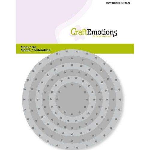 CraftEmotions 115633/0831 - CraftEmotions Die - cirkels vintage - klinknagels Card 11x9cm - 3,2-9,4cm