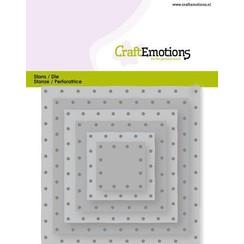 115633/0832 - CraftEmotions Die - vierkanten vintage - klinknagels Card 11x9cm - 2,8-9,1cm