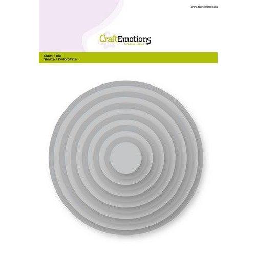 CraftEmotions 115633/0901 - CraftEmotions Big Nesting Die - cirkels Card 150x160 - 1,8-13,0cm
