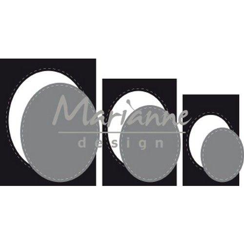 Marianne Design CR1467 - Marianne Design Craftable Basic passe-partouts Ovals