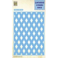 LCDL003 - Layered Combi Dies Rectangle Lattice Layer-C
