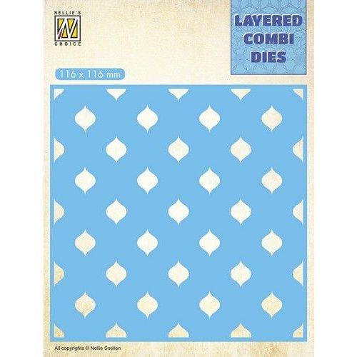 Nellie Snellen LCDD003 - Layered Combi Dies Square Drops Layer C