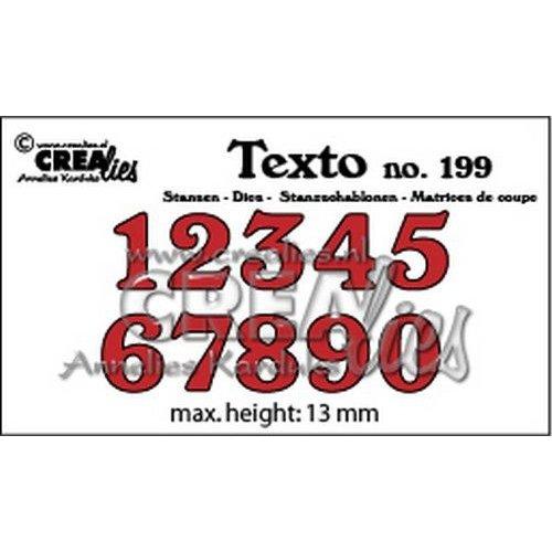 Crealies CLTX199 - Crealies Texto  Stansen cijfers middel 99 max. height: 13 mm