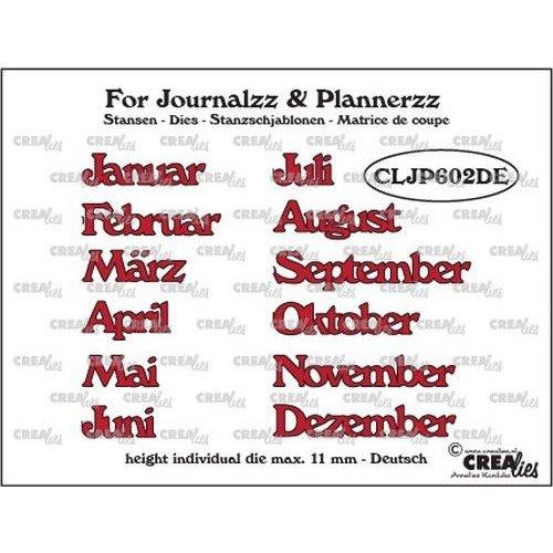 Crealies CLJP602DE - Crealies Journalzz & Pl Stansen maanden DE 02DE max. height: 11 mm