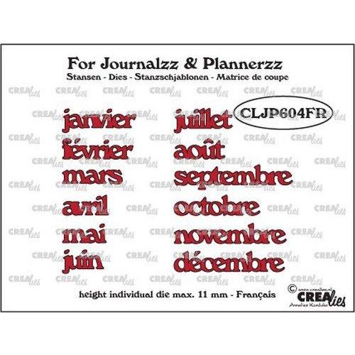 Crealies CLJP604FR - Crealies Journalzz & Pl Stansen maanden FR 04FR max. height: 11 mm
