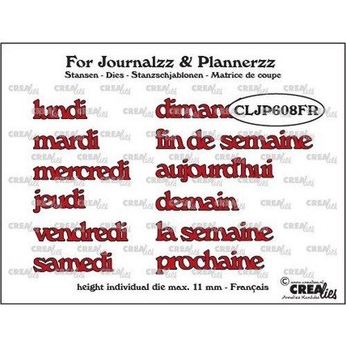 Crealies CLJP608FR - Crealies Journalzz & Pl Stansen weekdagen FR 08FR max. height: 11 mm