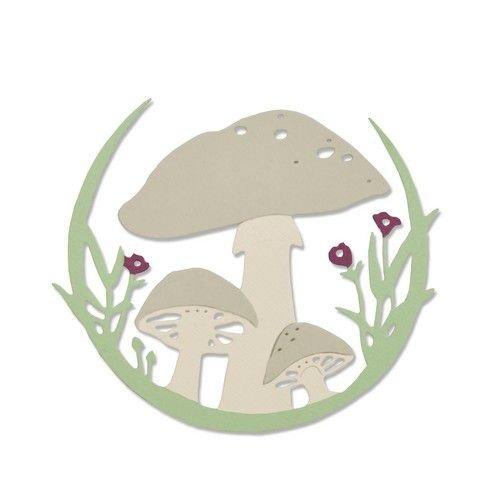 Sizzix 663420 - Sizzix Thinlits Die - Mushroom Wreath 0 Jessica Scott