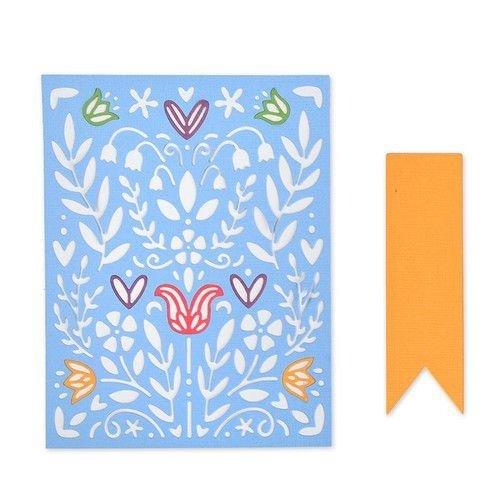Sizzix 663608 - Sizzix Thinlits Die Set - 7PK Folk Art Stenci 8