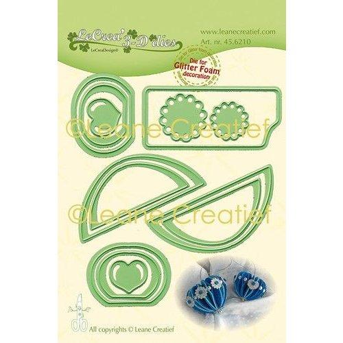 45.6210 - Lea'bilitie Glitter Foam decoratie Hart gladde rand snijmal