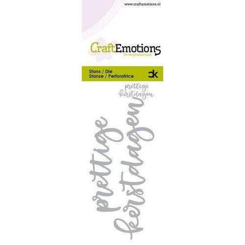 CraftEmotions 115633-0021 - CraftEmotions Die Handletter - prettige kerstdagen (NL) Card 5x10cm Carla Kamphuis