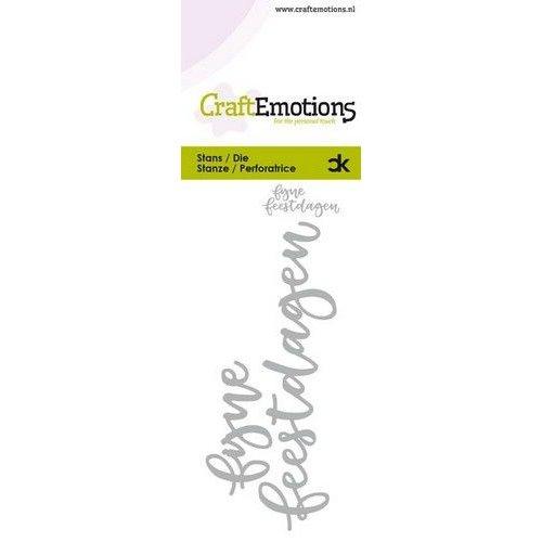 CraftEmotions 115633-0022 - CraftEmotions Die Handletter - fijne feestdagen (NL) Card 5x10cm Carla Kamphuis