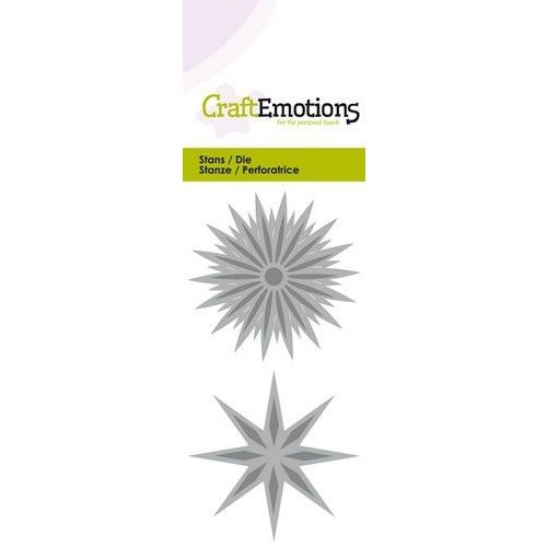 CraftEmotions 115633-0253 - CraftEmotions Die - ster fantasie Card 5x10cm - 5cm