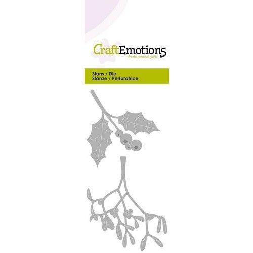 CraftEmotions 115633-0254 - CraftEmotions Die - hulst / mistletoe Card 5x10cm