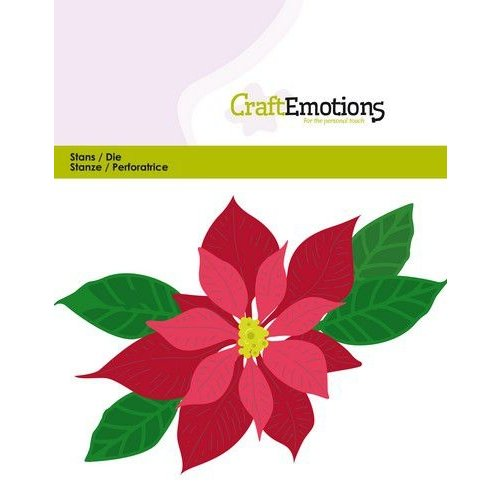 CraftEmotions 115633-0432 - CraftEmotions Die - kerstster / Poinsettia Card 11x9cm - 9,5 cm