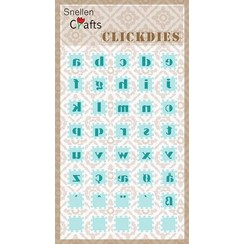 SCCD002 - Snellen Crafts Click Dies, Alphabet-2 (small letters)