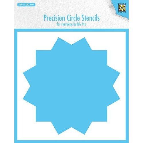Nellie Snellen MMPCS002 - Precision Circle Stencils, 12-point circle (for stampingbuddy-pro)