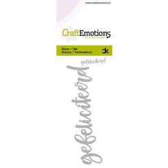 115633-0012 - CraftEmotions Die Handletter - gefeliciteerd (NL) Card 5x10cm Carla Kamphuis