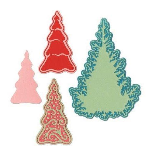 Sizzix 662847 - Sizzix Thinlits Die  set -  7PK Fairy  set -  Background Trees 7 Jorli Perine