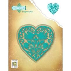 VIND066 - Vintasia Filigree Dies, Heart