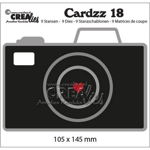 Crealies CLCZ18 - Crealies Cardzz no 18 Camera 8 105x145mm