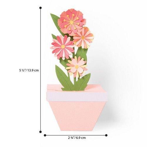 Sizzix 664360 - Sizzix Thinlits Die  Set - 9PK Pop-Up Plant Pot 0 Georgie Evans