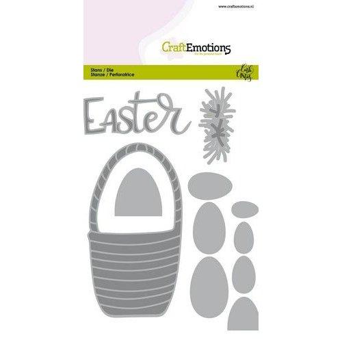 CraftEmotions 115633/0527 - CraftEmotions Die - Easter - paasmandmet eieren Card 10,5x14,8cm Carla Creaties