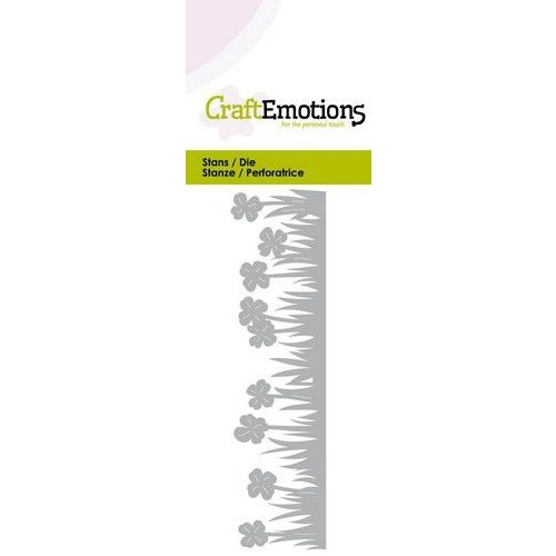 CraftEmotions 115633/0257 - CraftEmotions Die - Grasrand klaver Card 5x10cm