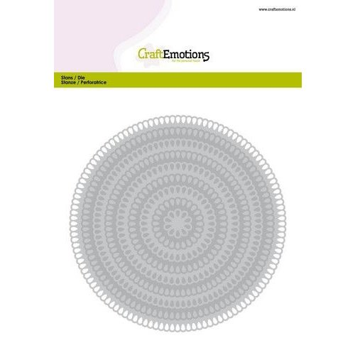 CraftEmotions 115633/0941 - CraftEmotions Big Nesting Die - cirkels scalop XL drop Card 150x160 3,6-13,0cm